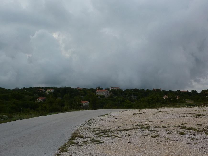 Chorwacja - nadciąga burza - się dzieje na niebie