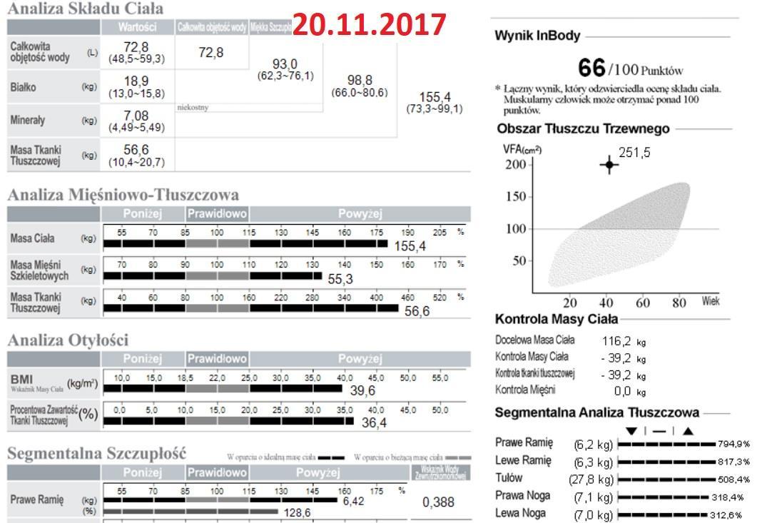 analiza składu ciała 1 - ajwendieta - jak schudnąć 23 kilogramy